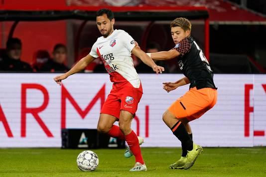Mark van der Maarel (l) heeft zijn basisplek te pakken bij FC Utrecht.