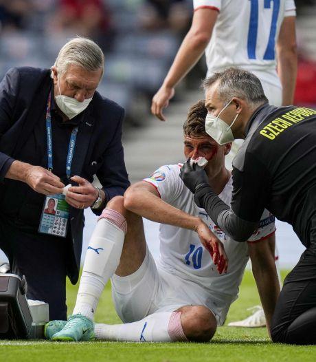 Ondanks bloedneus EK-topscorer: 'Een belachelijke penalty'