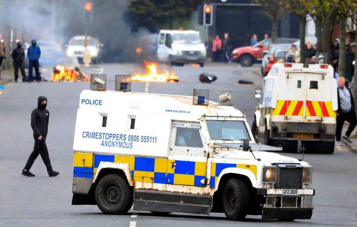 Gisteravond kwam het in het oosten van Belfast opnieuw tot confrontaties tussen unionisten en de politie.