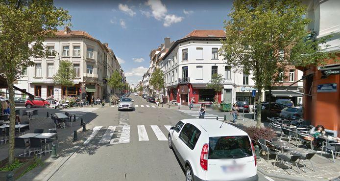 Carrefour de la rue Américaine et de la rue du Page (quartier du Châtelain, Ixelles)