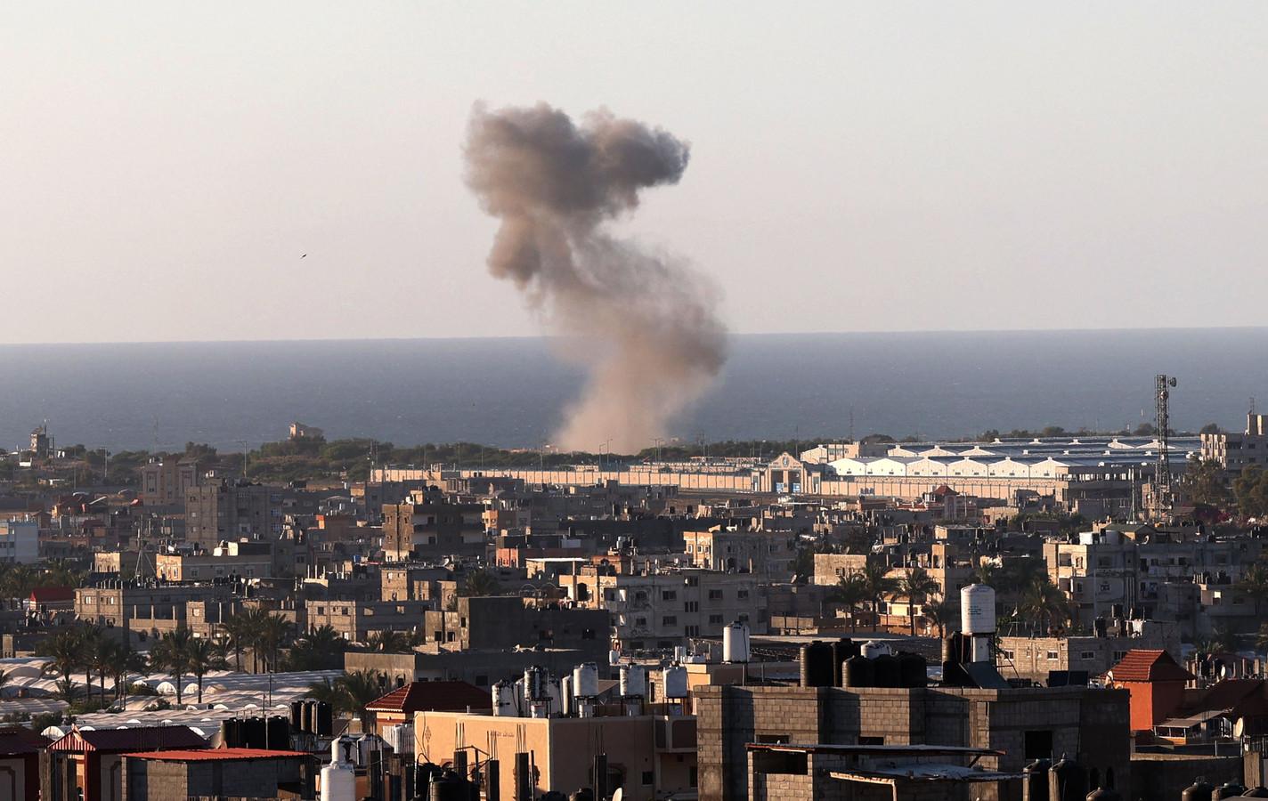 Bombardementen in Gaza.