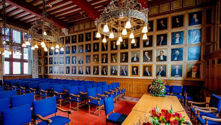 Senaatszaal in het Academie gebouw, Rijks Universiteit Groningen Beeld anp