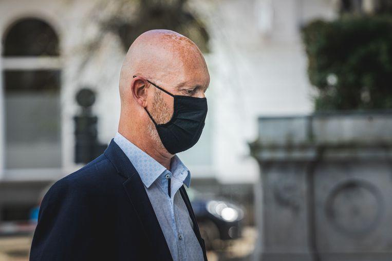 Johan Sabbe in het hof van beroep in Gent. Beeld Wannes Nimmegeers