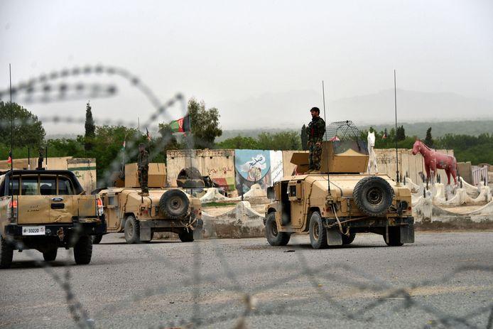 Afghaanse troepen tijdens een militaire operatie.