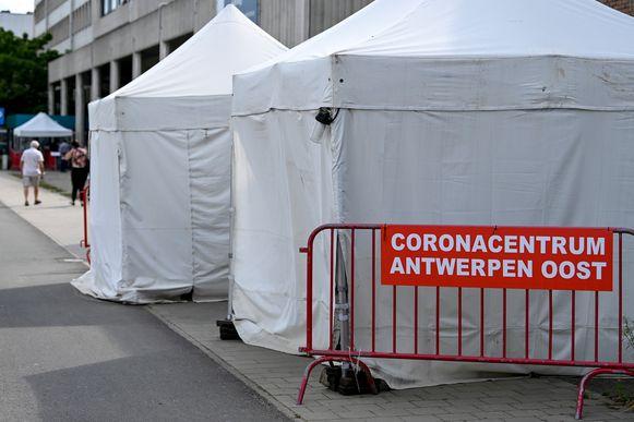 Het triagecentrum Antwerpen Oost aan het ziekenhuis AZ Monica in Deurne, op een kleine vier kilometer van het Sportpaleis.