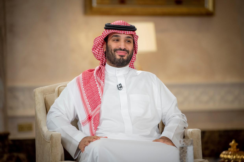 De Saudische kroonprins Mohammed bin Salman. 'Uiteindelijk is Iran een buurland.' Beeld VIA REUTERS