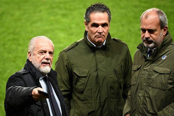 De Laurentiis op de training van de 'Partenopei' tijdens de vooravond van PSG - Napoli.