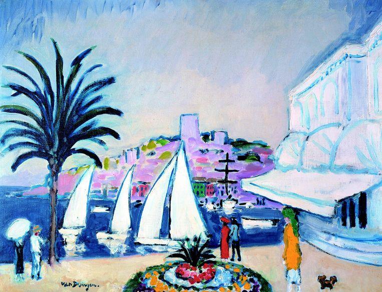 •Kees van Dongen, Gezicht op het casino in Cannes, ca. 1925, olieverf op doek, Singer Laren, schenking Collectie Nardinc Beeld Singer Laren, schenking Collectie Nardinc
