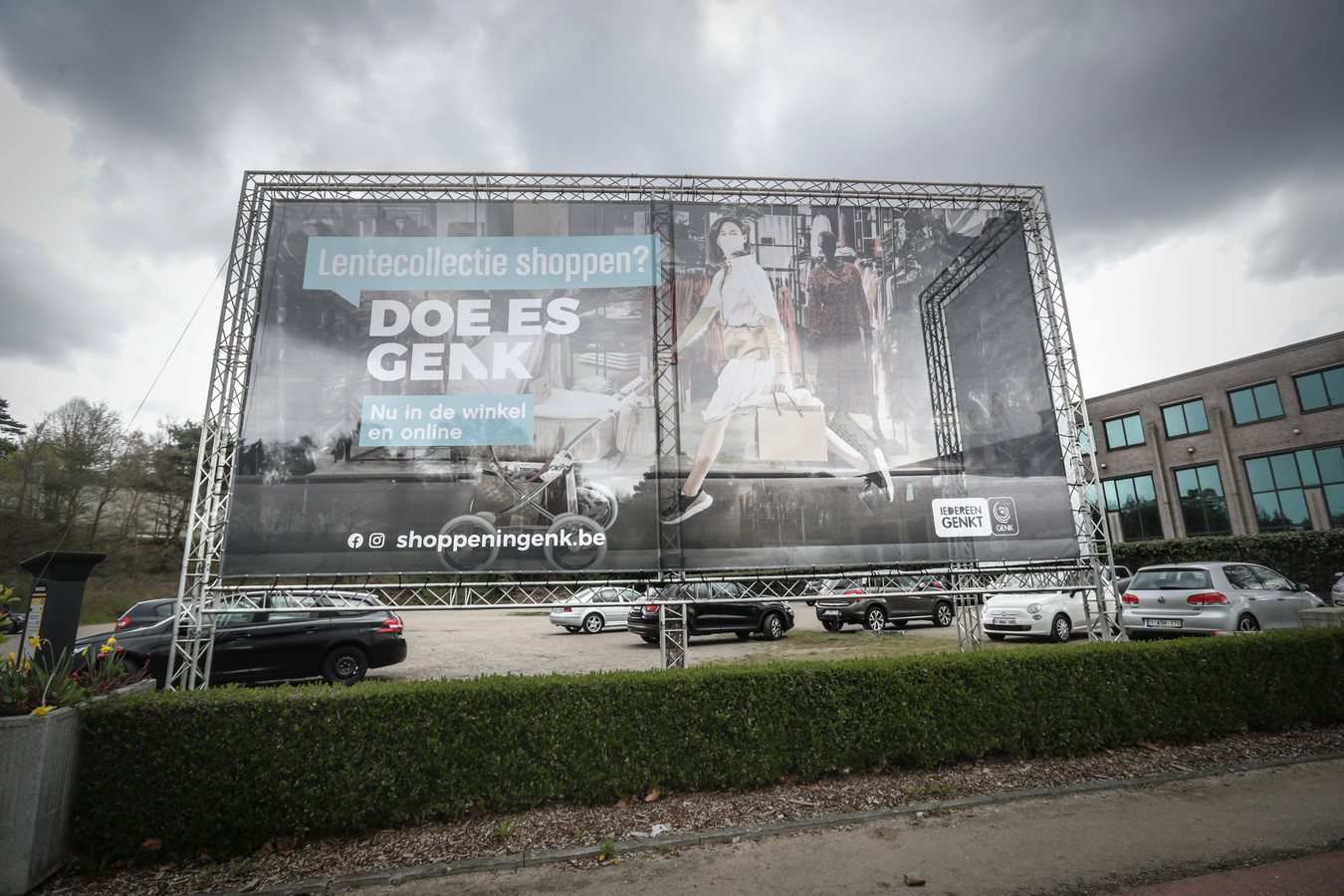 Het campagnebeeld aan de Europalaan is ondertussen vervangen.