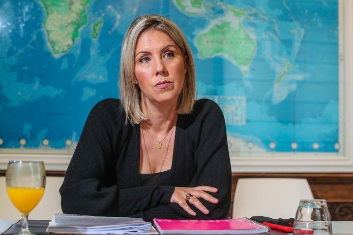 La ministre de la Défense Ludivine Dedonder (PS).