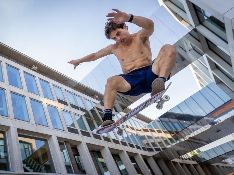 Skateprof Douwe Macare niet geplaatst voor de Spelen