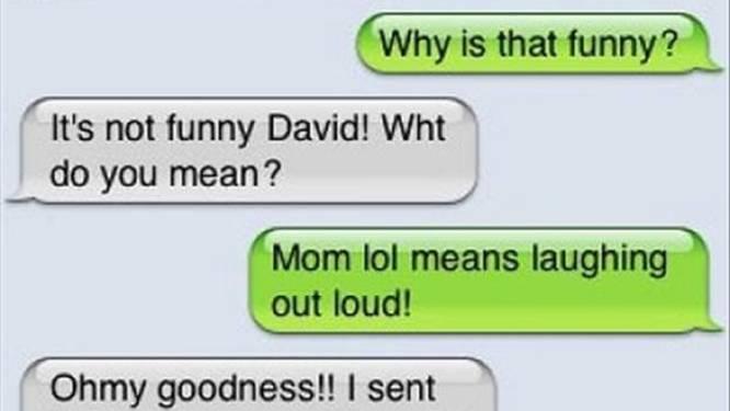 Ouders zijn in hun sms'en soms onbedoeld grappig