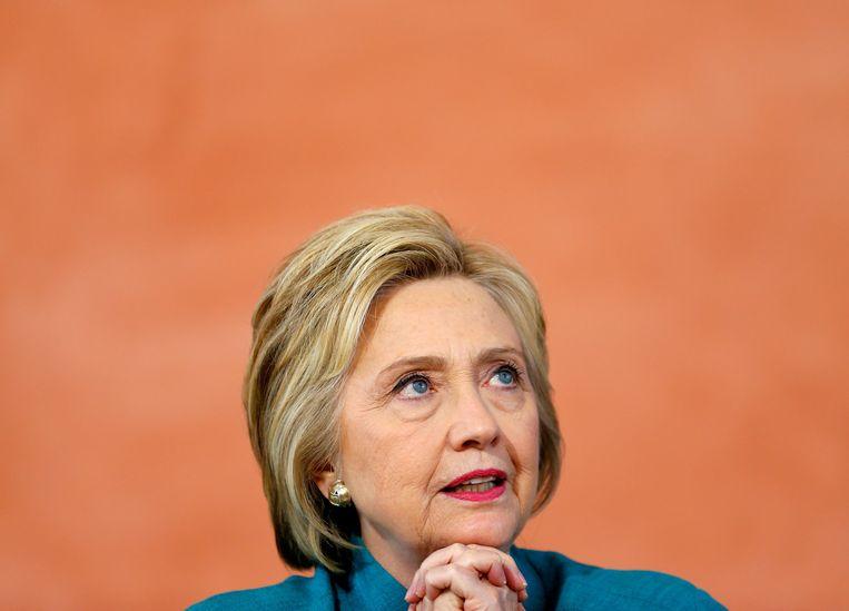 Politiek: Hilary Clinton. 'Zij heeft hersens in haar hoofd en die ander... cornflakes.' Beeld Reuters