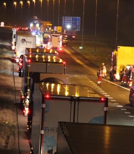 Dode bij ongeluk met wegwerkers op A1 bij Holten