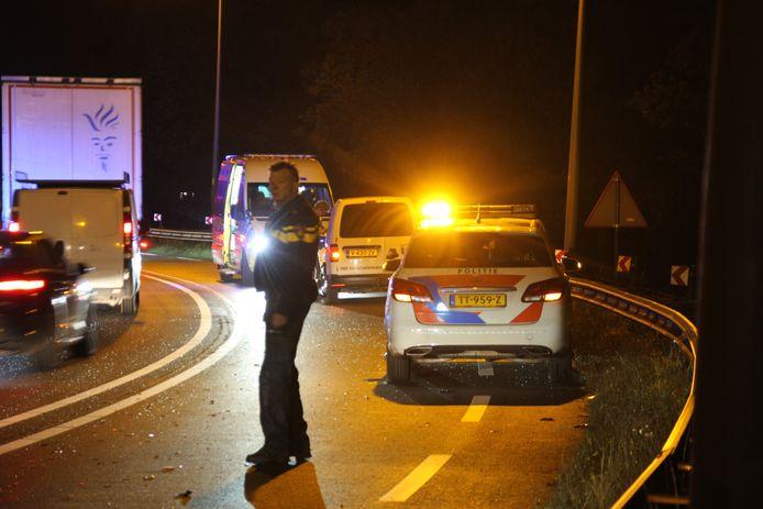 Een ongeluk op de N35 zorgt maandagochtend voor vertraging bij Mariënheem