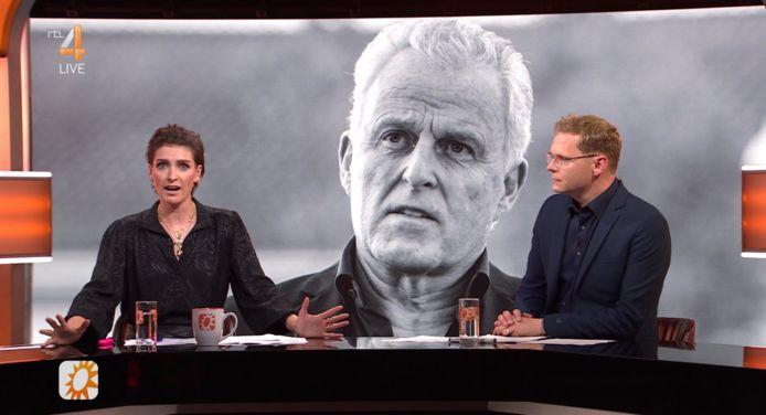 Vivienne van den Assem en Luuk Ikink in RTL Boulevard.