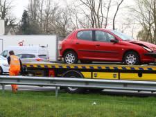 Botsing met drie auto's op A2 tussen Boxtel en Vught
