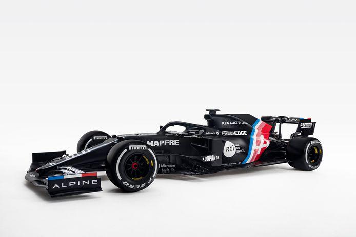 Dit seizoen rijdt Alpine mee in de Formule 1 met deze nieuwe auto. De aandacht voor de F1-auto moet de komende 'normale' auto's van Alpine bekender maken