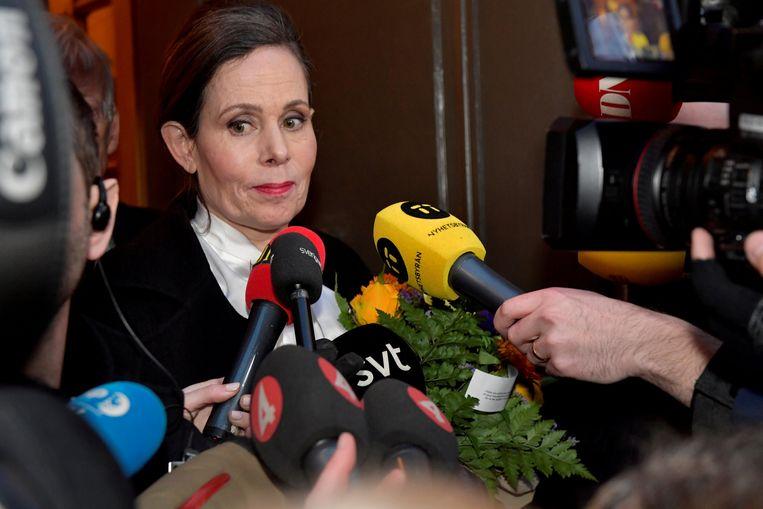 Sara Danius (foto) is voorlopig niet van plan terug te keren naar de Zweedse Academie. Beeld REUTERS
