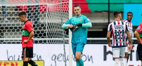 Willem II-doelman Brondeel voor een duel geschorst na rode kaart tegen NEC