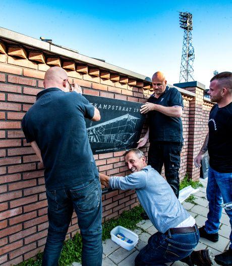 Legendarische clubkreten en historie op herbouwde stadionmuur GA Eagles: 'Dit heeft iets Liverpool-achtigs'