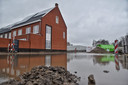 Wateroverlast op het KVL-terrein in Oisterwijk.