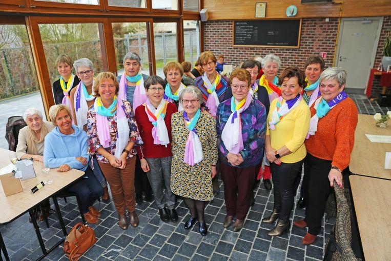 De dames van KVLV Hekelgem en Teralfene, voortaan omgedoopt tot Ferm.