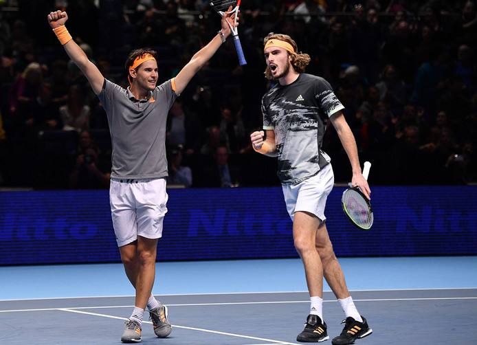 Wie wint de ATP Finals? Dominic Thiem (links) of Stefanos Tsitsipas?