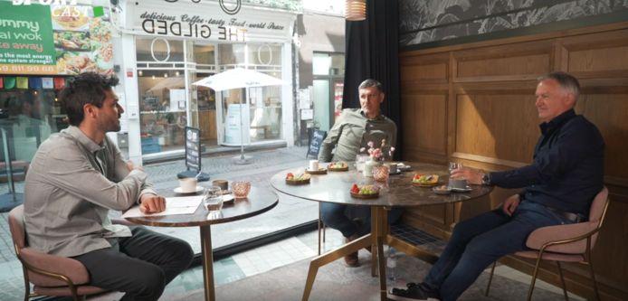 Het HLN SPORTCAST-panel: Jonas Decleer, Thierry Courtois en Marc Degryse.