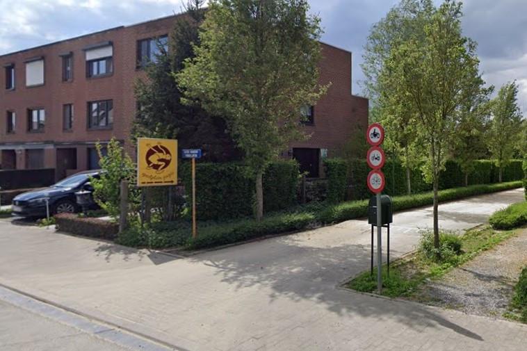 De toegang tot speelplein Joepie op de Brouwerijstraat in Halle.