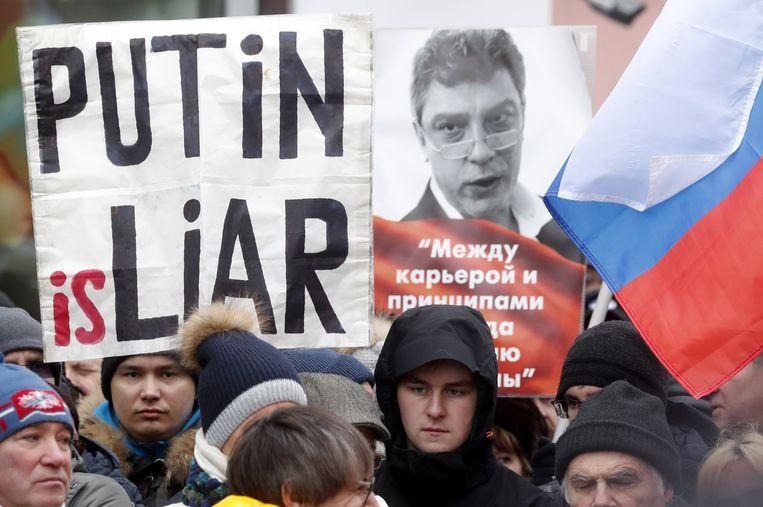 Volgens oppositiepoliticus Ilja Jasjin was het geen treurmars, maar een betoging voor democratische hervormingen en een politieke demonstratie tegen de Russische president Vladimir Poetin en voor een vrij Rusland.