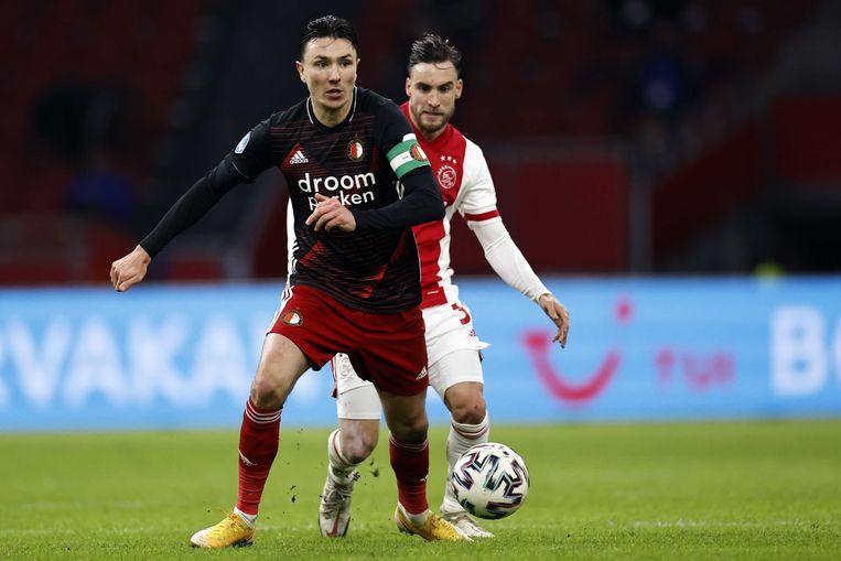 Berghuis in actie tegen Ajax in januari 2021. Beeld ANP