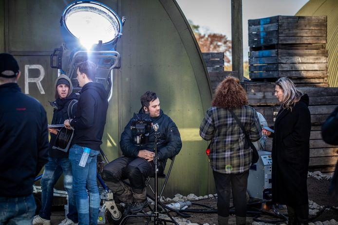 bezoek aan de filmset van De Slag om de Schelde in Sint-Truiden