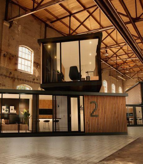 Uitvouwbare huisjes voor starters en senioren ontwikkeld in bedrijfshallen en kerken