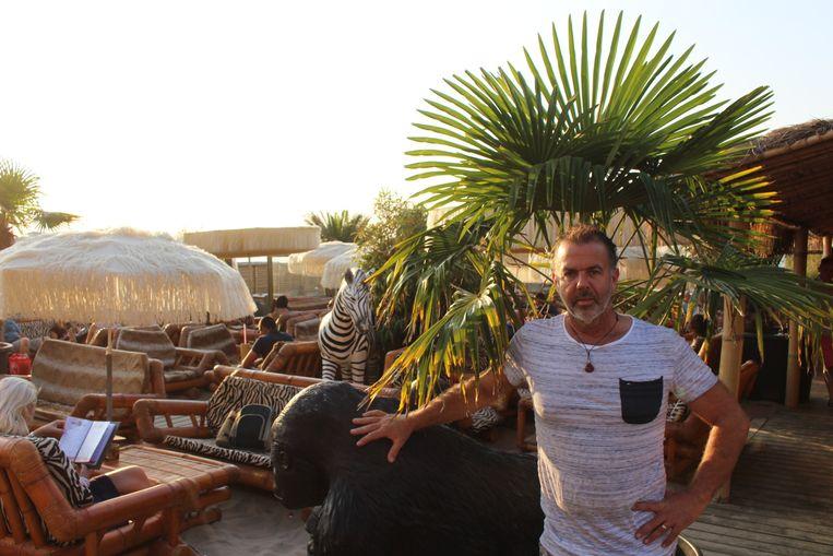 De zaakvoerder van Bamboo Beach, Kurt Govaere. Zij openden vorig weekend al de deuren