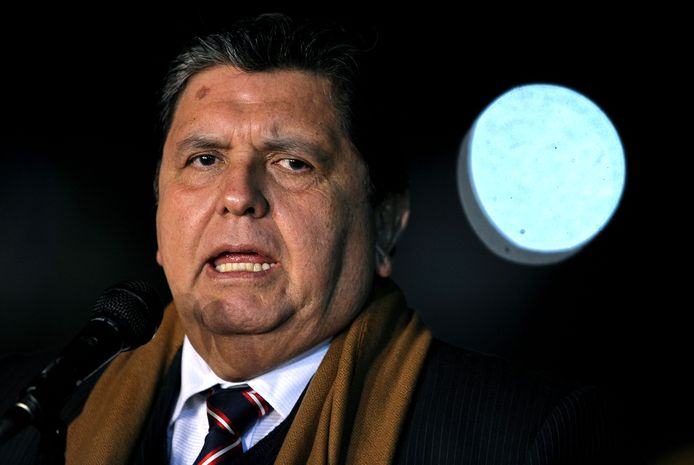 De vroegere president van Peru, Alan Garcia.
