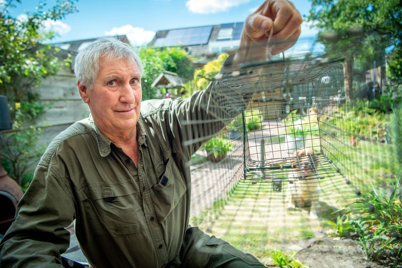 Frans Strik, 'de rattenvanger van Wijchen Noord', ving vorig jaar nog zo'n 25 ratten.