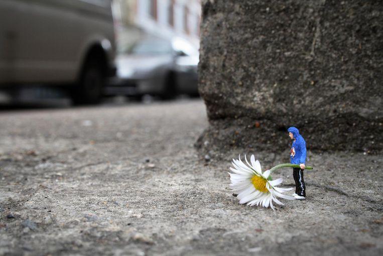 Een onderdeel van het Little People-project Beeld Slinkachu