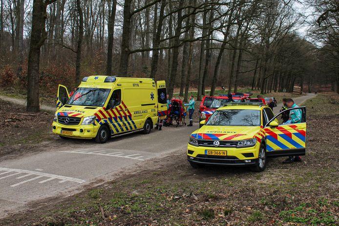 Voor het slachtoffer rukte een trauma-arts uit die per helikopter ter plaatse kwam.