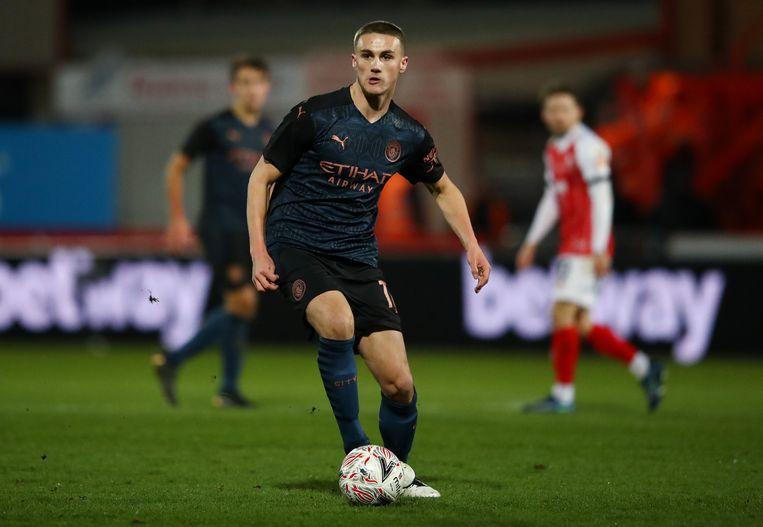 Taylor Harwood-Bellis. Beeld Manchester City FC via Getty Ima