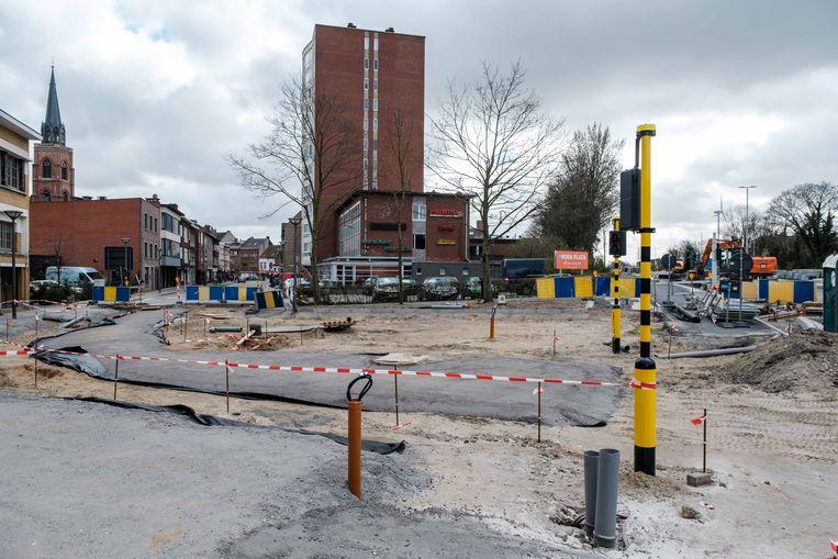 De wegenwerken in de Frans De Schutterlaan.