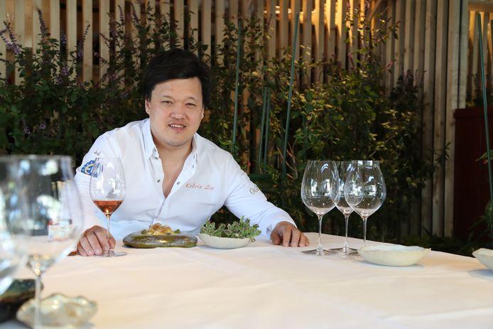 Chef Kelvin Lin van restaurant Nayolie in Voorschoten.