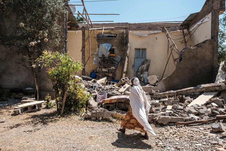 Lokale machthebbers in Tigray raakten in november slaags met troepen van de centrale overheid van Ethiopië.  Beeld AFP