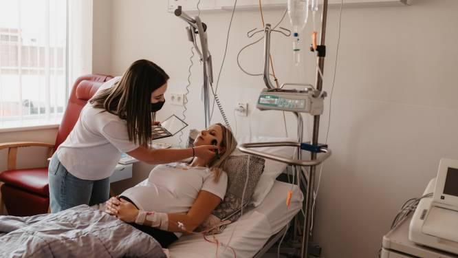 Sint-Andriesziekenhuis en leerlingen Sint-Jozefsinstituut verwennen patiënten