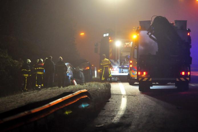 Door gladheid zijn zaterdagochtend al meerdere ongelukken gebeurd in de provincie. Rond 07:00 ging het mis op de A58 bij Breda.
