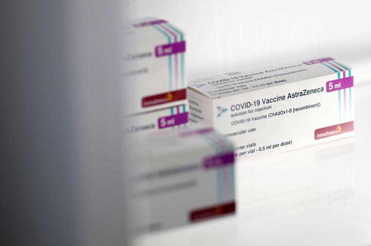 Het Covid-19-vaccin van de Brits-Zweedse farmaceut AstraZeneca. Beeld REUTERS