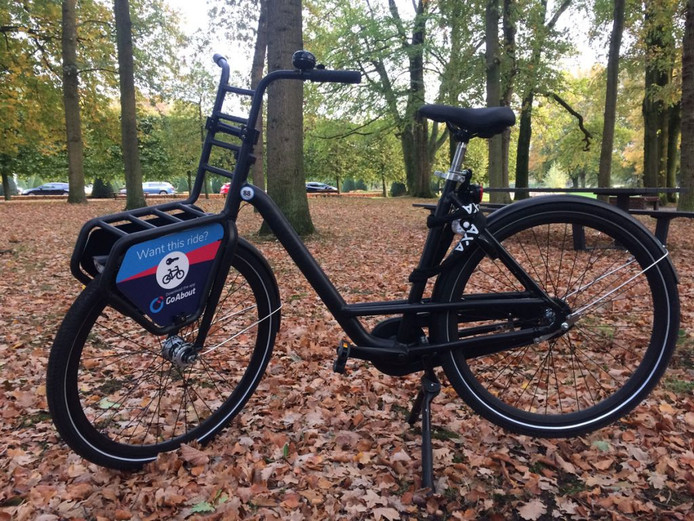 De pickupbike van Transferium. Deelfiets om van station Leidsche Rijn naar bedrijventerrein De Wetering te fietsen.