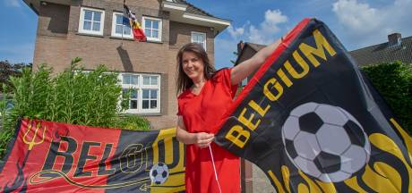 Dappere Sophie versiert haar huis met Belgische vlaggen:  'als we tegen Nederland moeten, weet ik niet of ze blijven hangen'