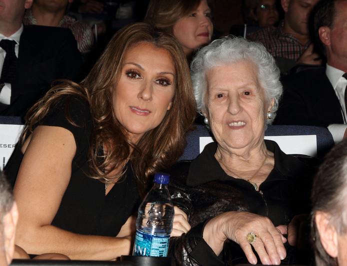 Céline Dion et sa maman Thérèse