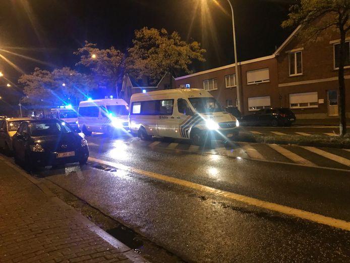 De politie is opnieuw massaal aanwezig voor de wedstrijd Eendracht-Gent.